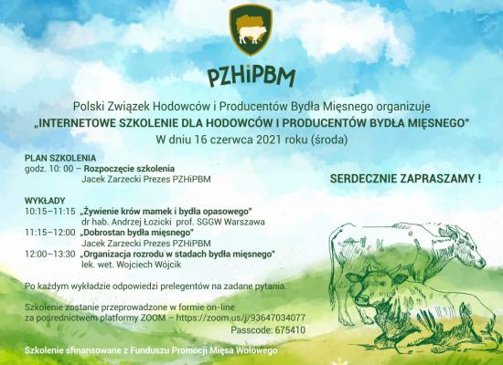 Internetowe szkolenie dla hodowców i producentów bydła mięsnego